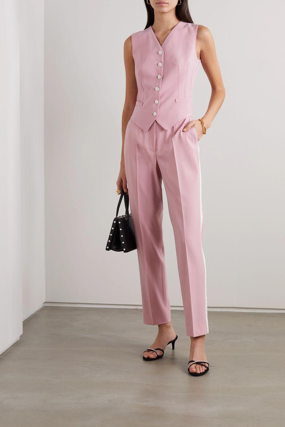 Dolce & Gabbana Wool-blend and silk-blend satin vest