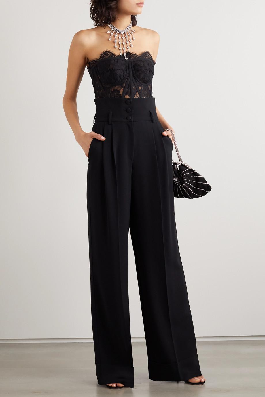 Dolce & Gabbana Hose mit weitem Bein aus Cady