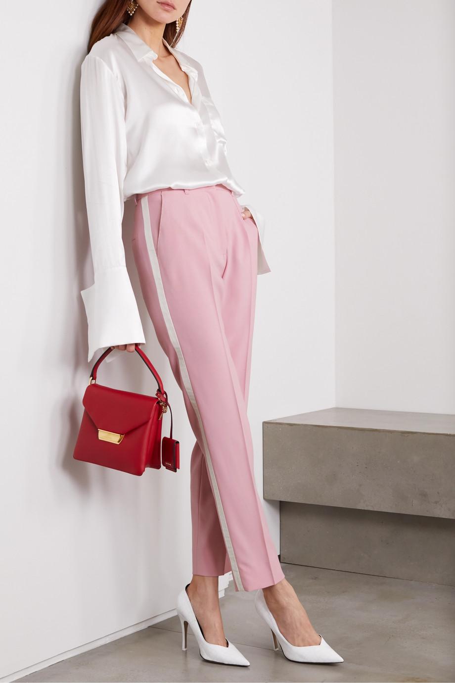 Dolce & Gabbana Striped wool-blend straight-leg pants