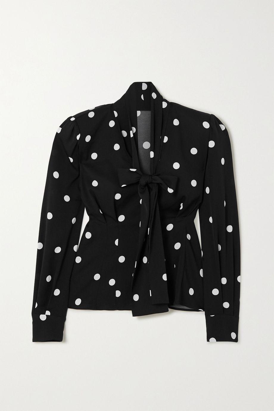 Dolce & Gabbana Schluppenbluse aus einer Seidenmischung mit Polka-Dots