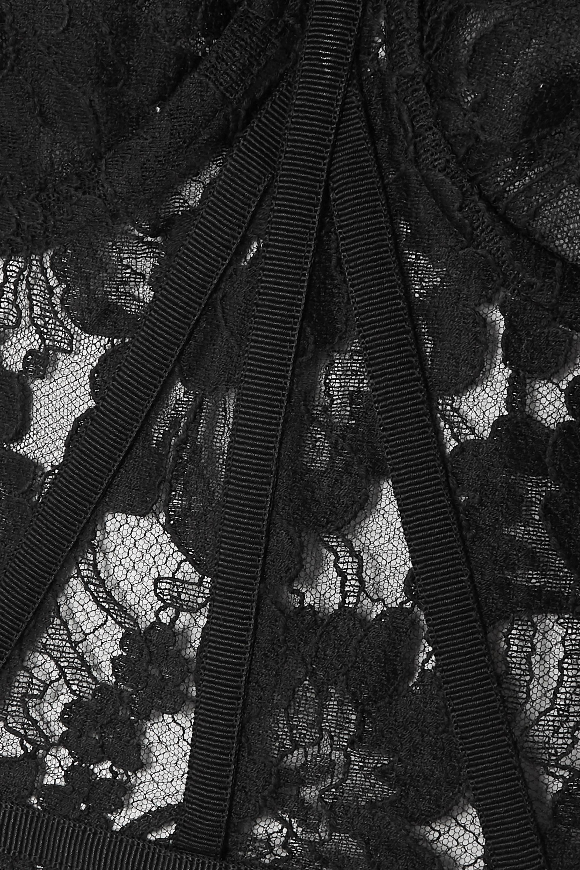 Dolce & Gabbana Grosgrain-trimmed lace bustier top