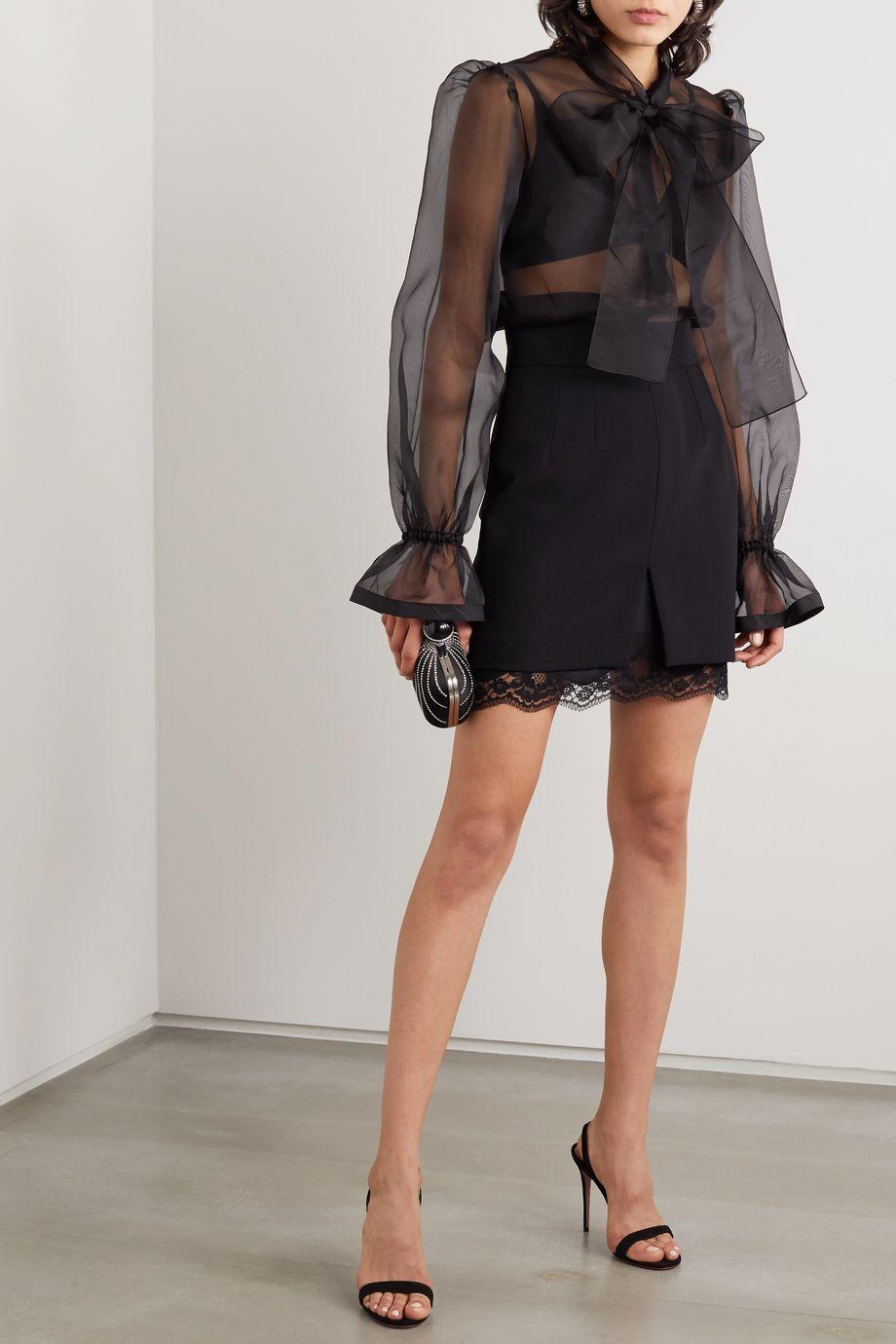 Dolce & Gabbana Blouse en organza de soie à col noué