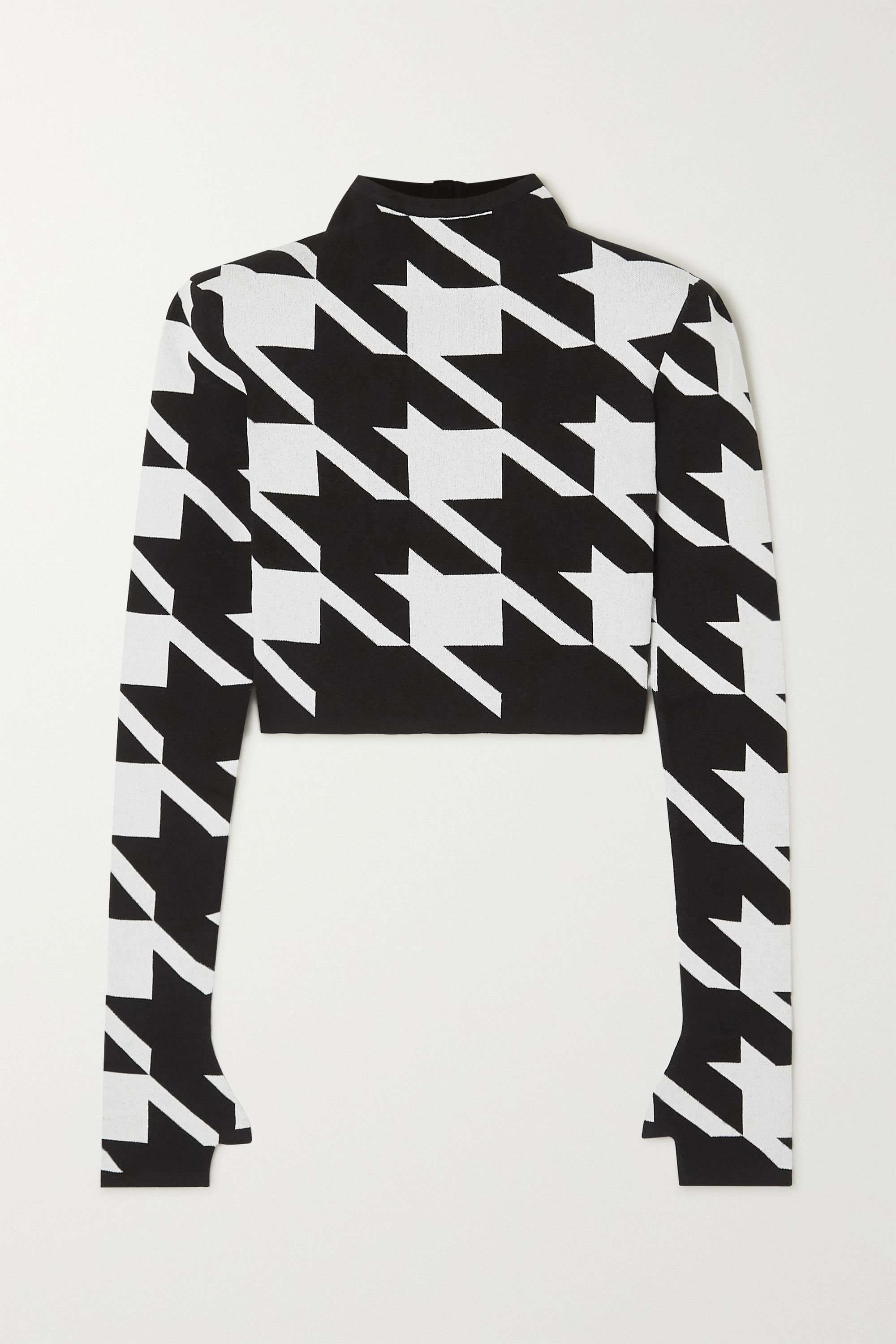 Balmain Houndstooth jacquard-knit sweater