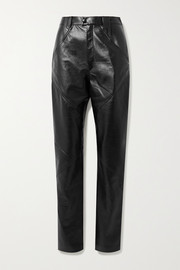 Isabel Marant Xenia leather tapered pants