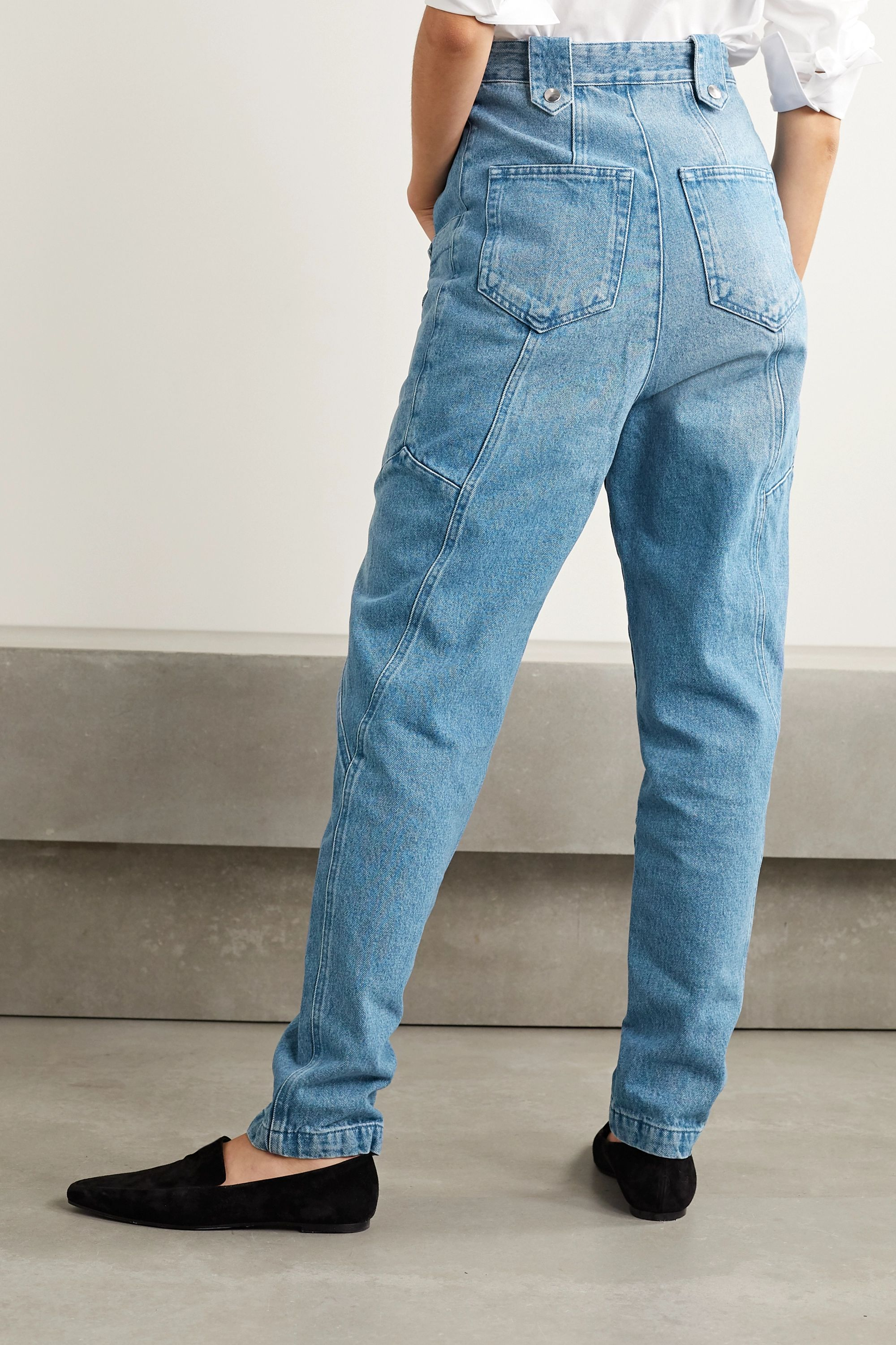 Isabel Marant Kerris high-rise tapered jeans