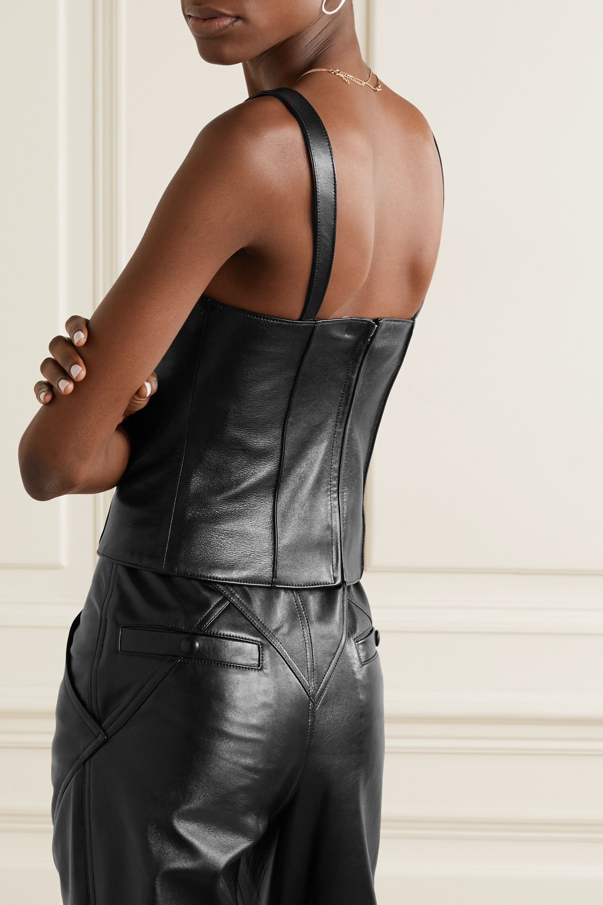 Isabel Marant Xanti leather bustier top