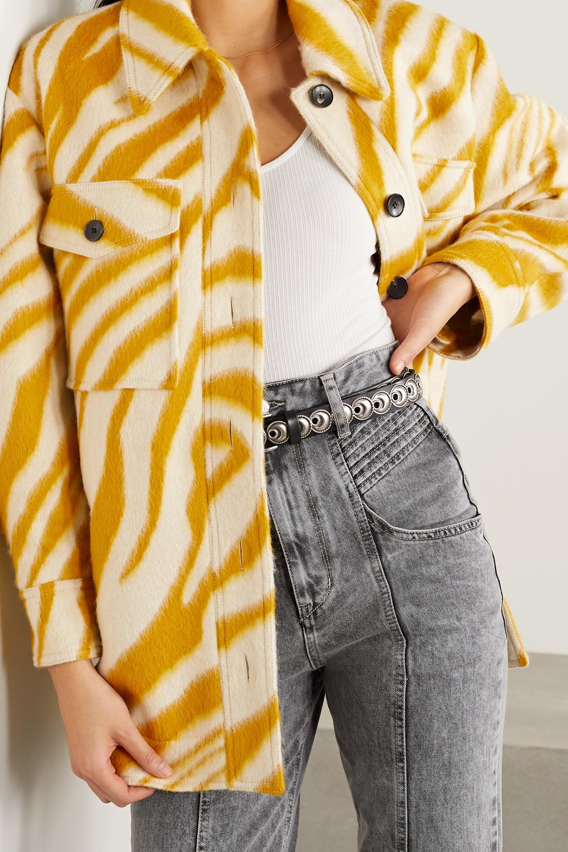 Isabel Marant Harvey Oversized-Jacke aus gebürsteter Wolle mit Zebraprint