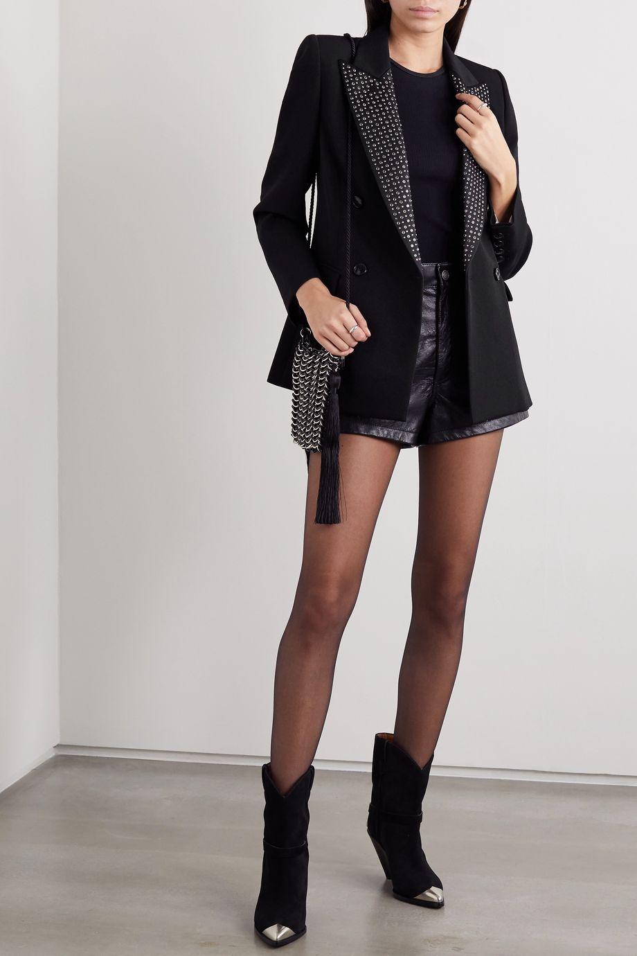 Isabel Marant Paryam double-breasted crystal-embellished wool blazer