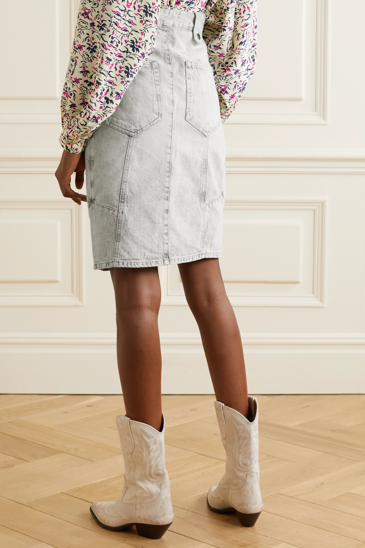 Isabel Marant Kalosia pleated denim skirt