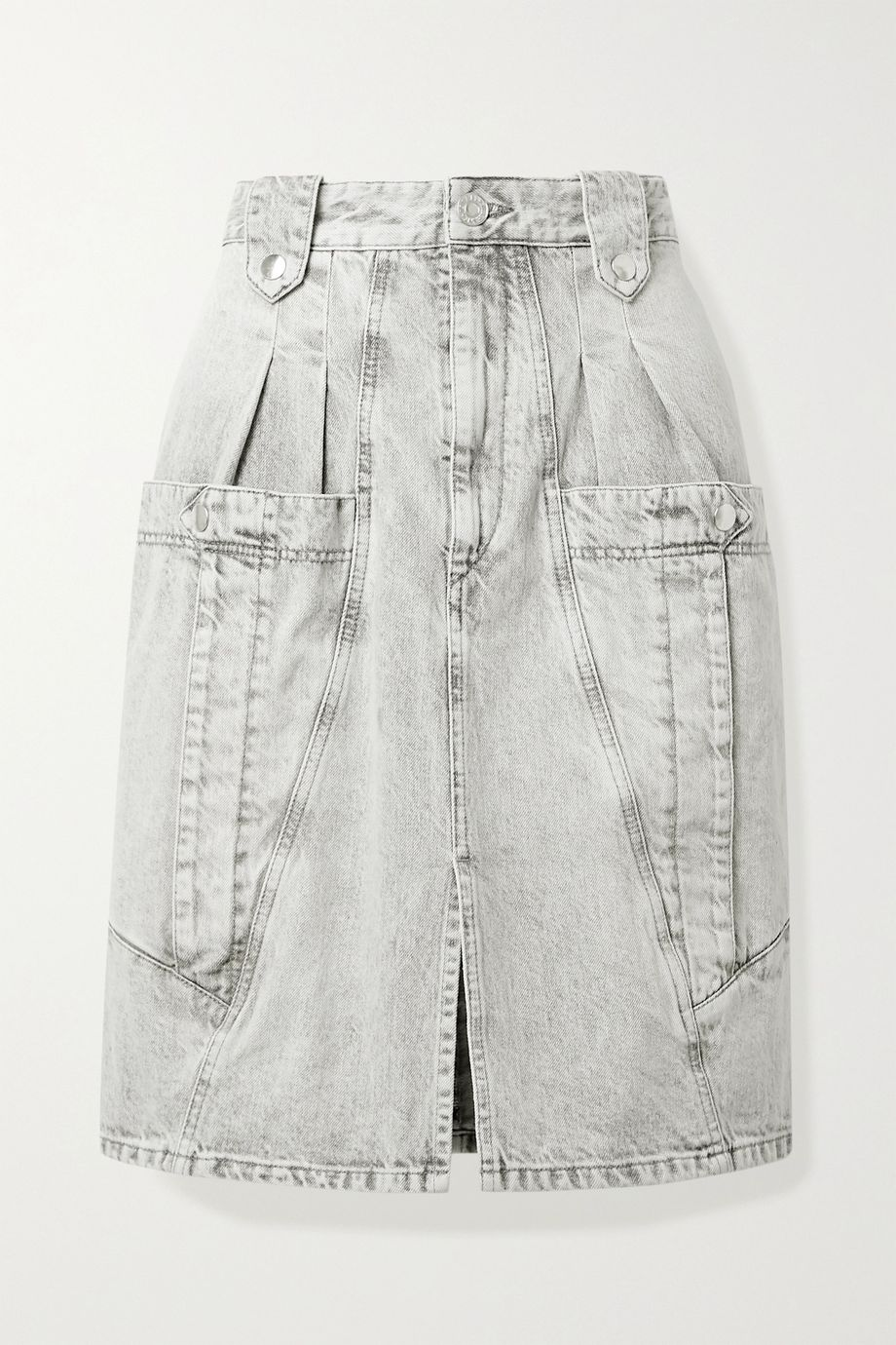 Isabel Marant Kalosia pleated denim skirt