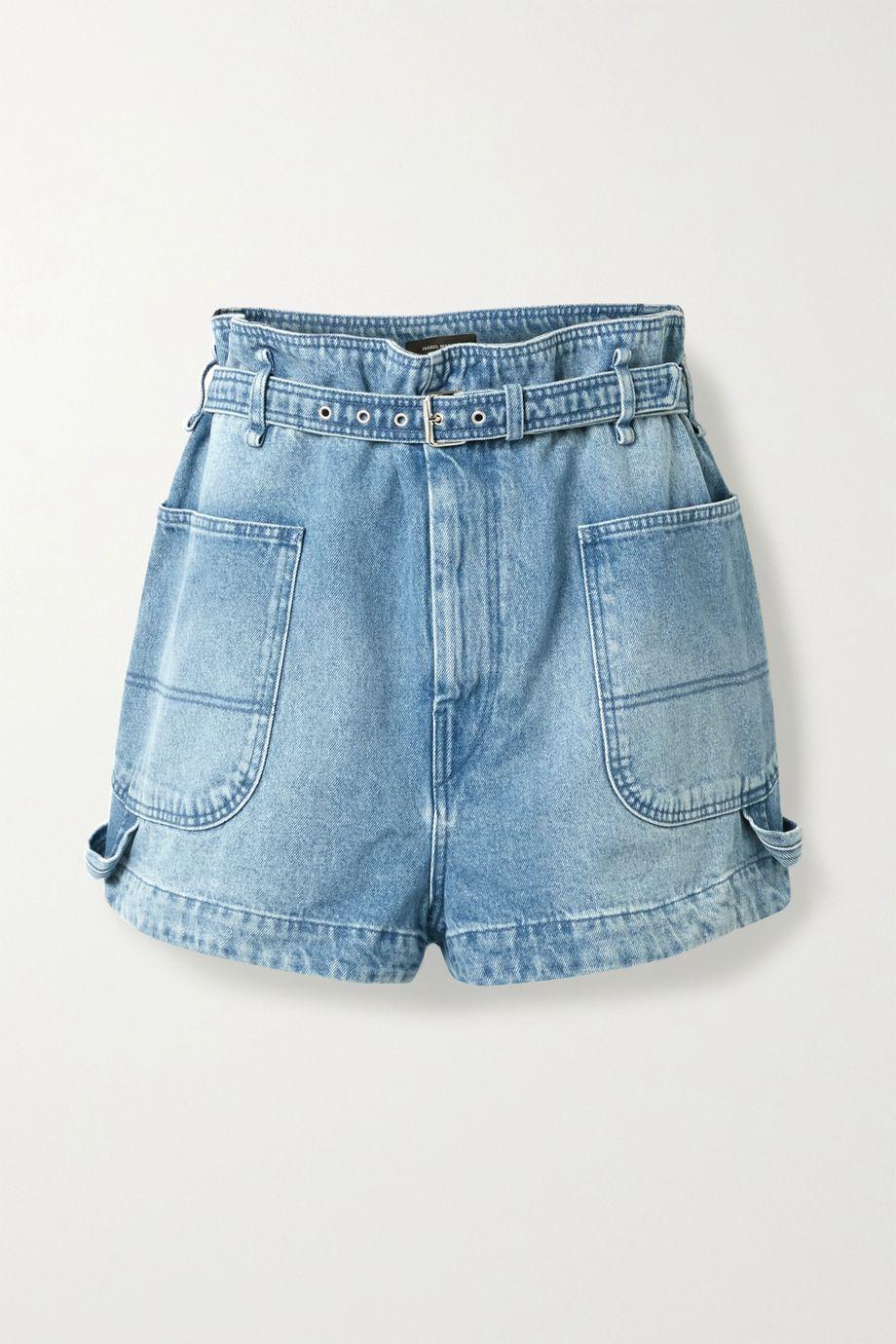 Isabel Marant Belted denim shorts