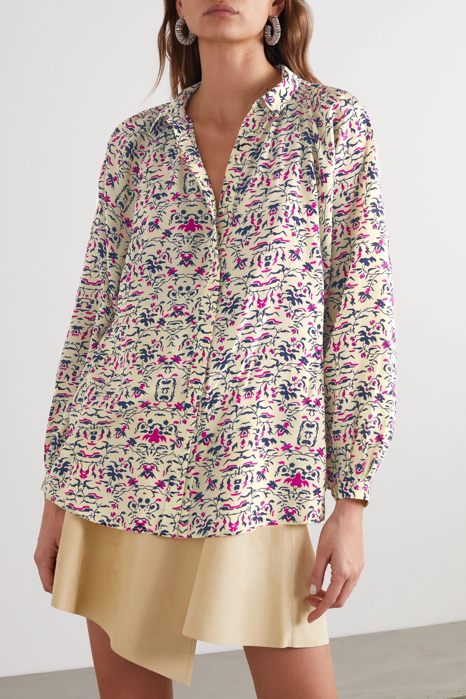 Isabel Marant Briseis printed silk crepe de chine blouse