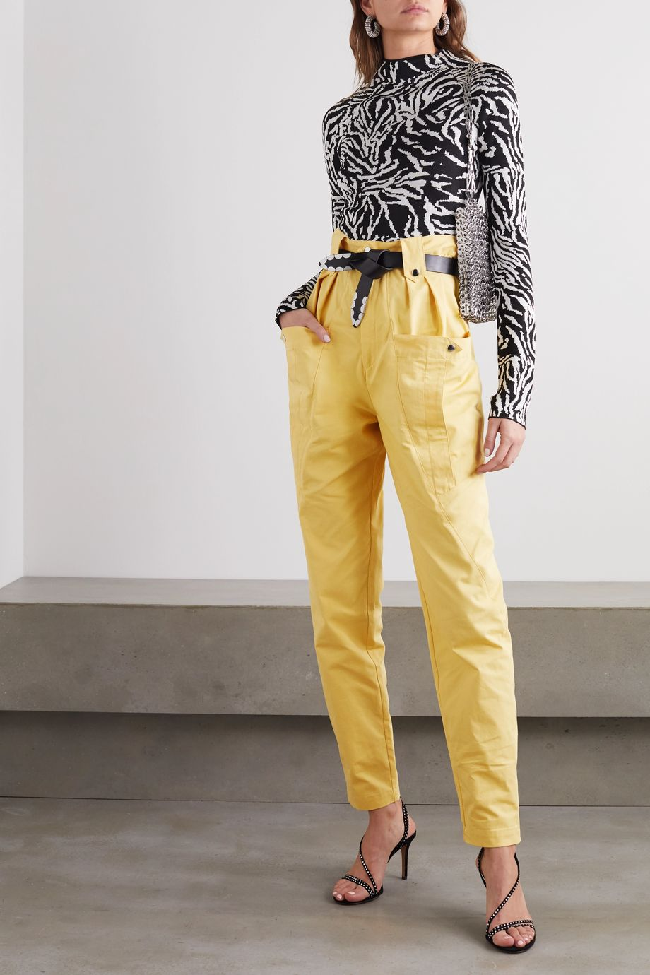 Isabel Marant Yerris cotton tapered pants