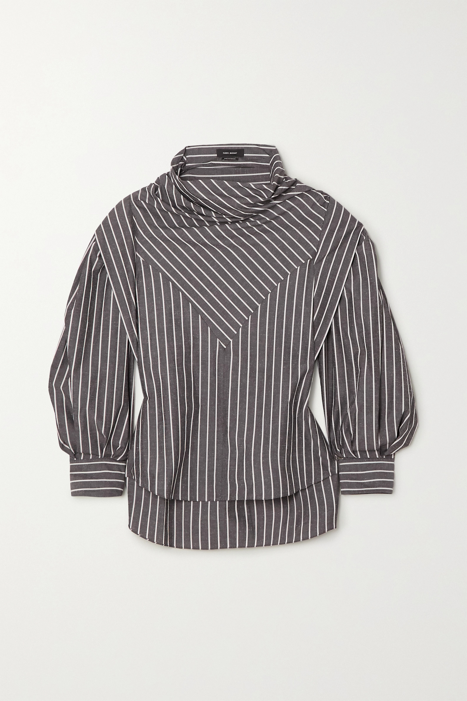 Isabel Marant Welly gestreifte Bluse aus einer Baumwoll-Seidenmischung
