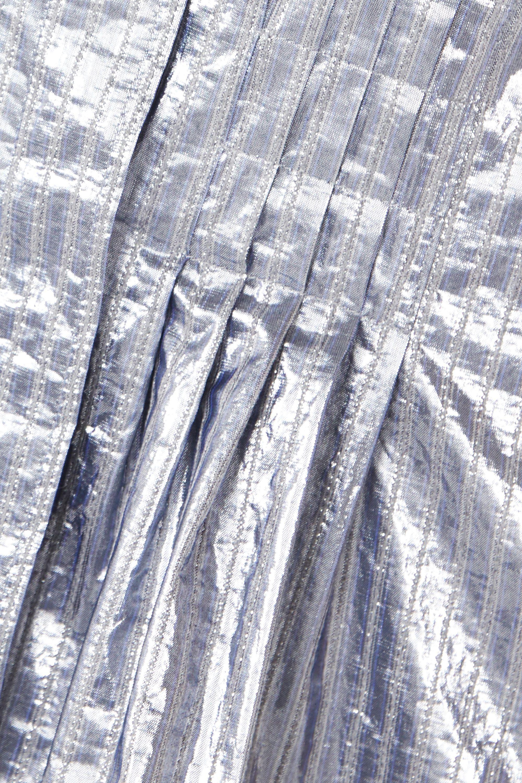 Isabel Marant Chemisier en lamé à fines rayures et à plis Remy