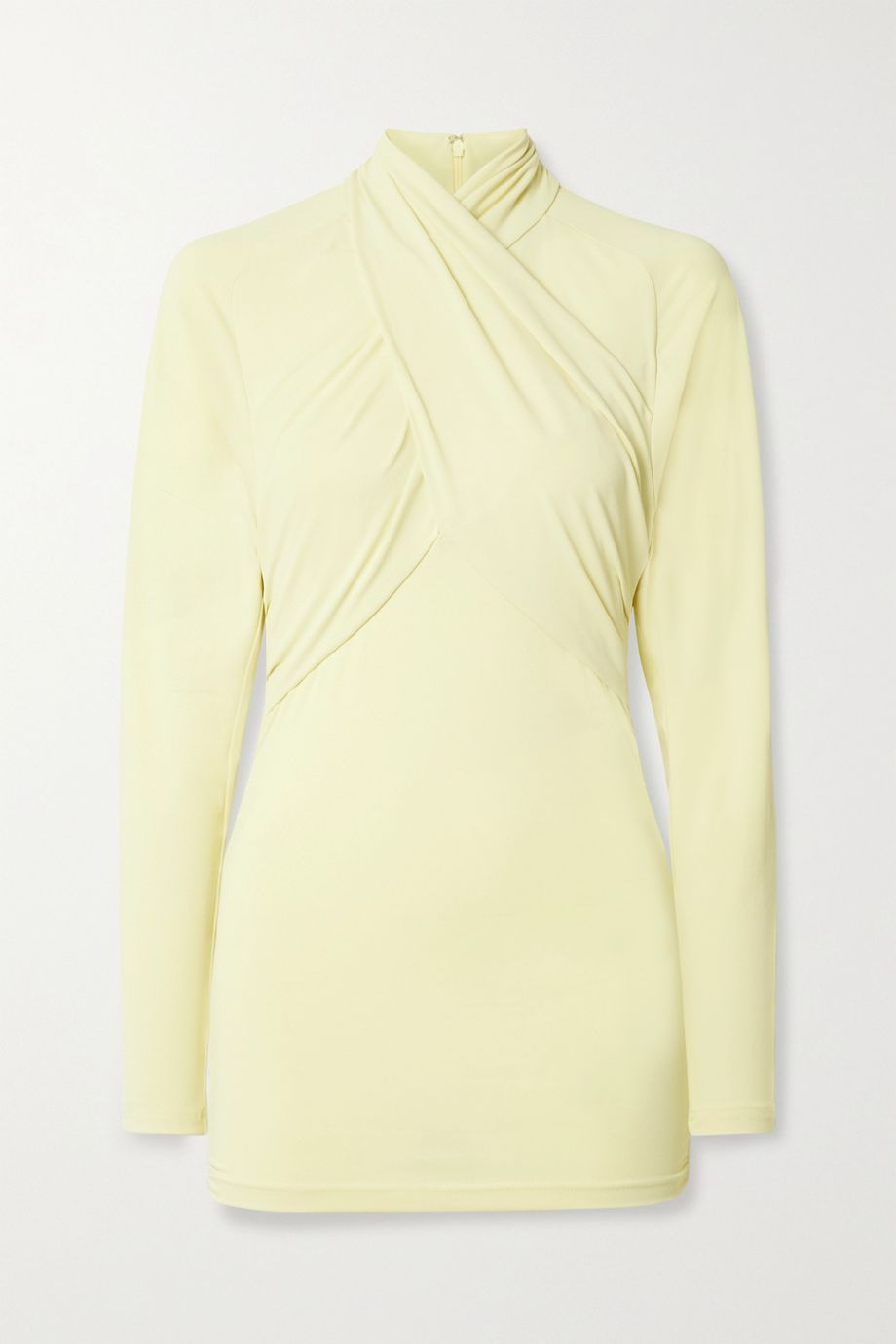 Isabel Marant Georgina twist-front stretch-crepe top