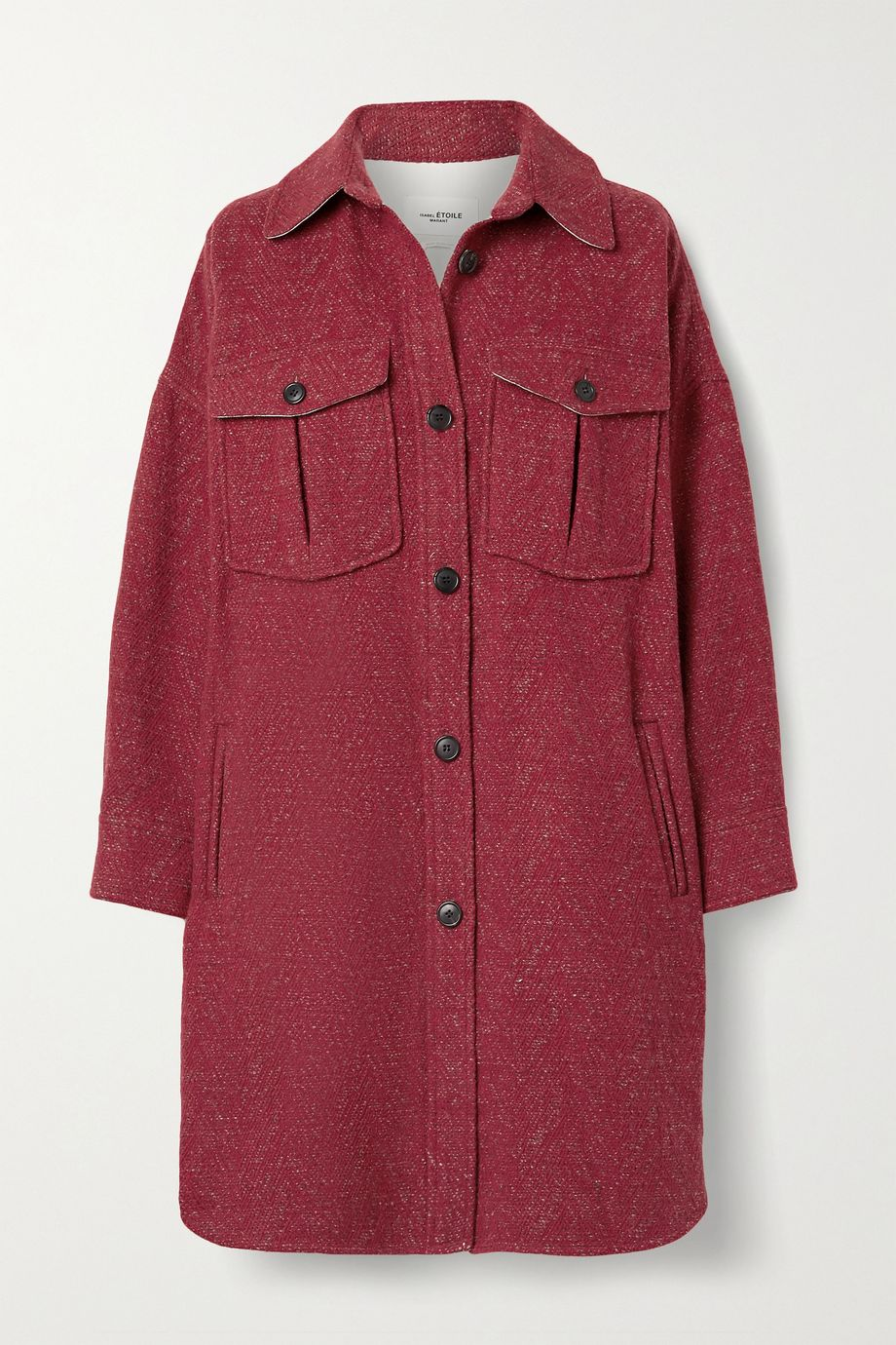 Isabel Marant Étoile Obira oversized herringbone wool-blend coat