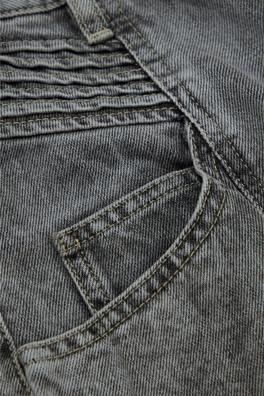 Isabel Marant Étoile Henoya acid-wash high-rise slim-leg jeans