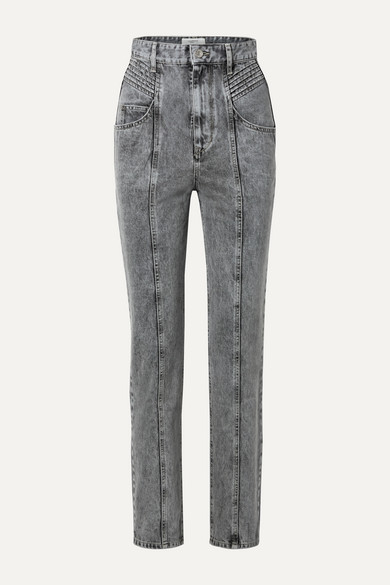 Etoile Isabel Marant Jeans HENOYA ACID-WASH HIGH-RISE SLIM-LEG JEANS