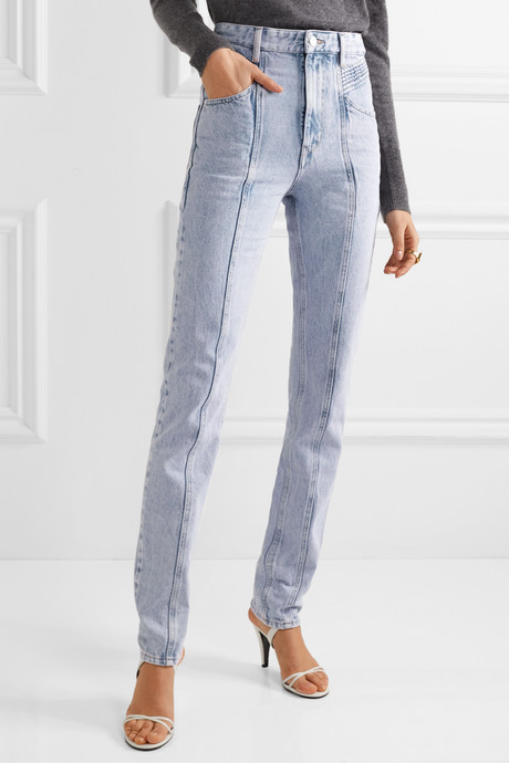 Hominy acid-wash high-rise slim-leg jeans