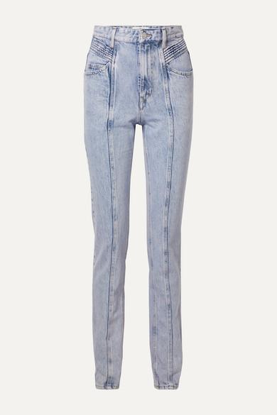 Etoile Isabel Marant Jeans HOMINY ACID-WASH HIGH-RISE SLIM-LEG JEANS