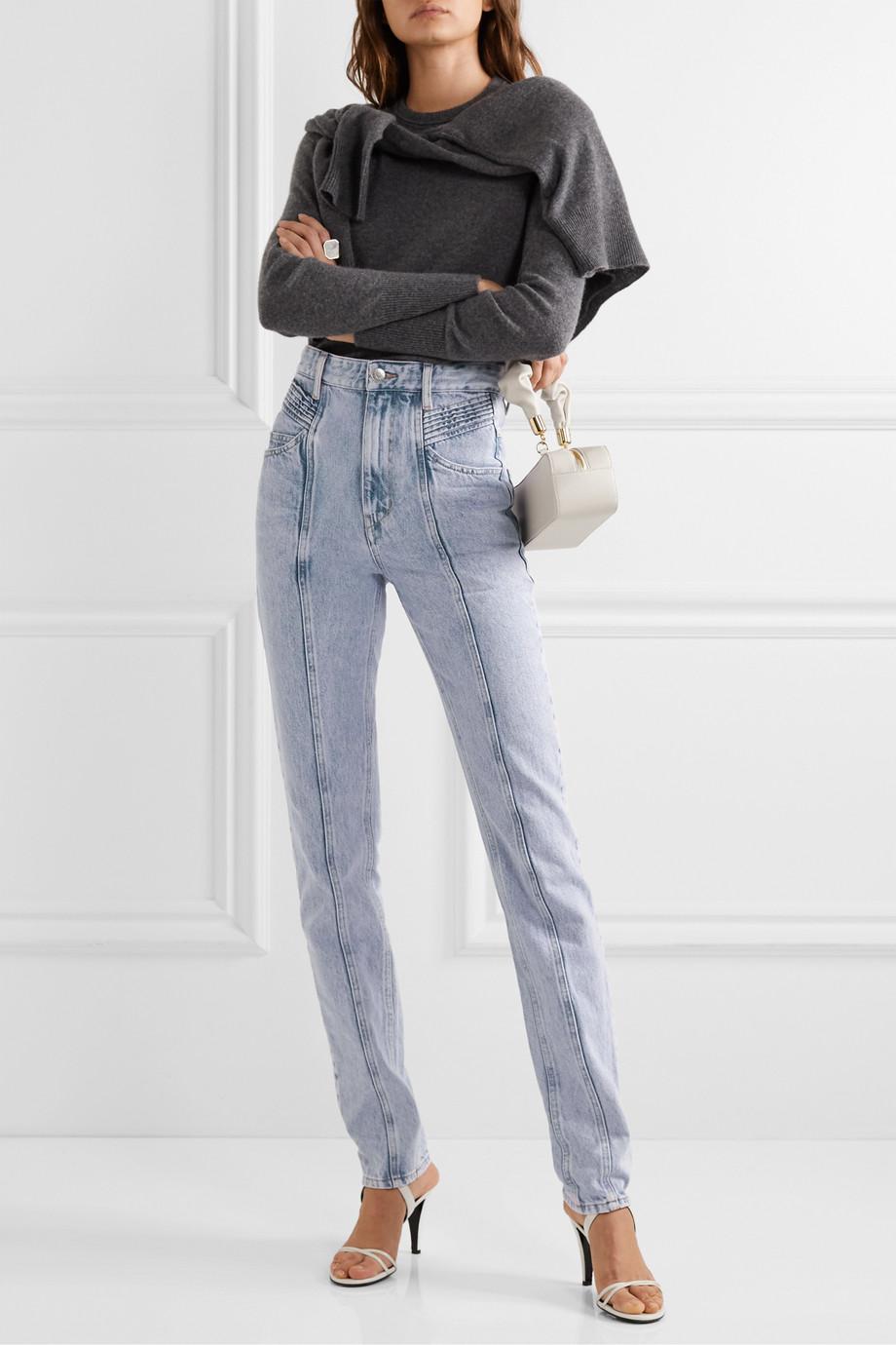 Isabel Marant Étoile Hominy acid-wash high-rise slim-leg jeans