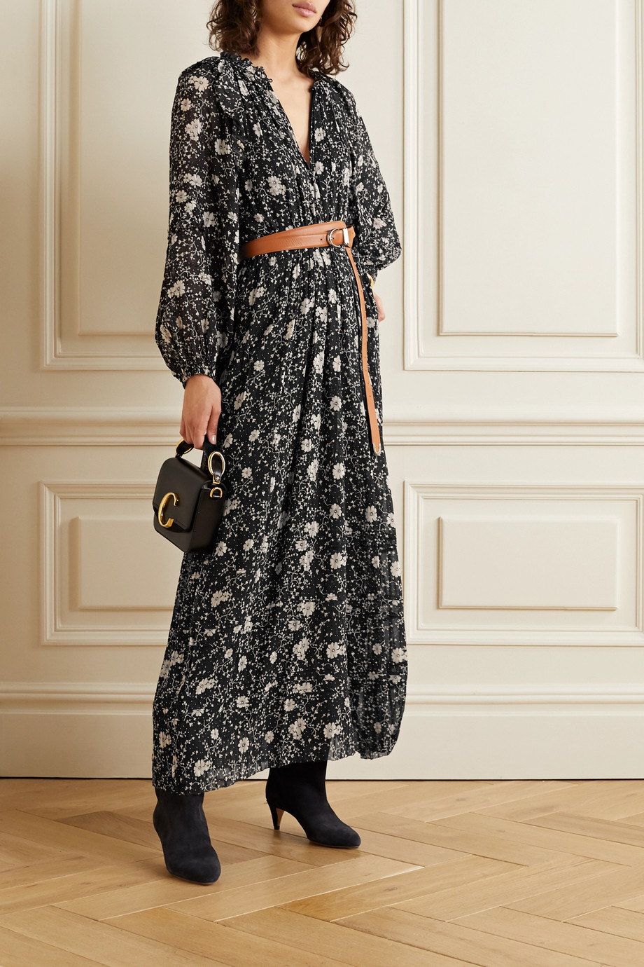 Isabel Marant Étoile Estine ruffled floral-print crepon maxi dress
