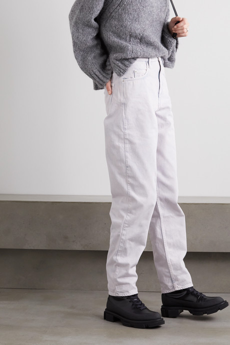 Corsy high-rise tapered jeans