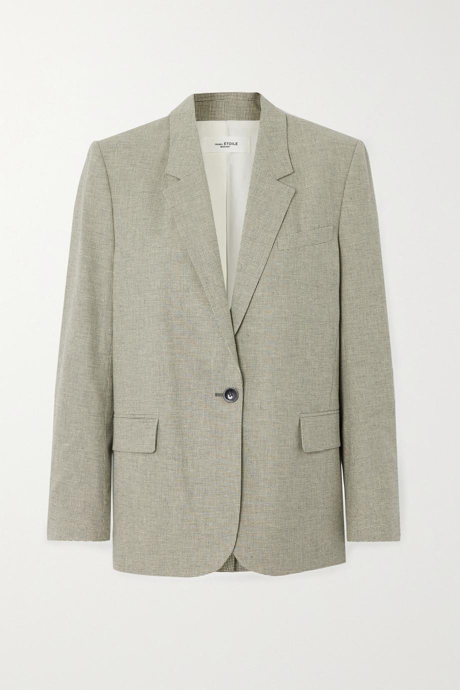 Isabel Marant Étoile Verix checked cotton and linen-blend blazer