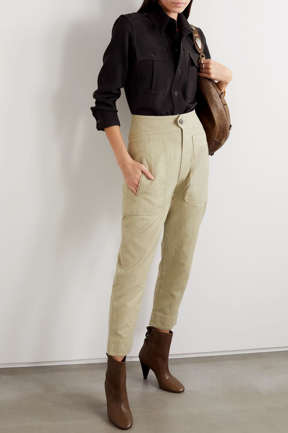 Isabel Marant Étoile Raluni cotton and linen-blend tapered pants
