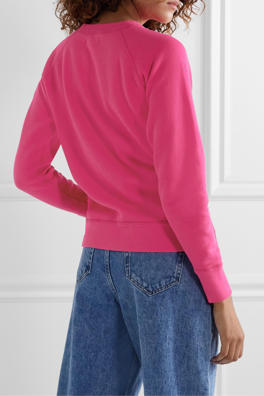 Isabel Marant Étoile Milly flocked cotton-blend jersey sweatshirt