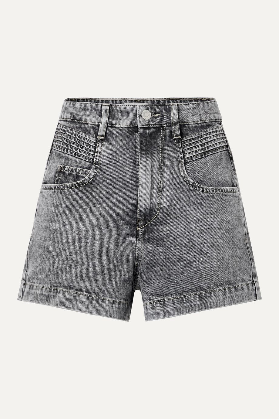 Isabel Marant Étoile Hiana acid-wash denim shorts