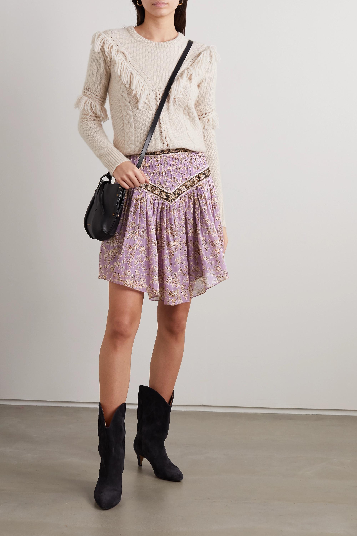 Isabel Marant Étoile Valerie pintucked floral-print cotton-voile skirt