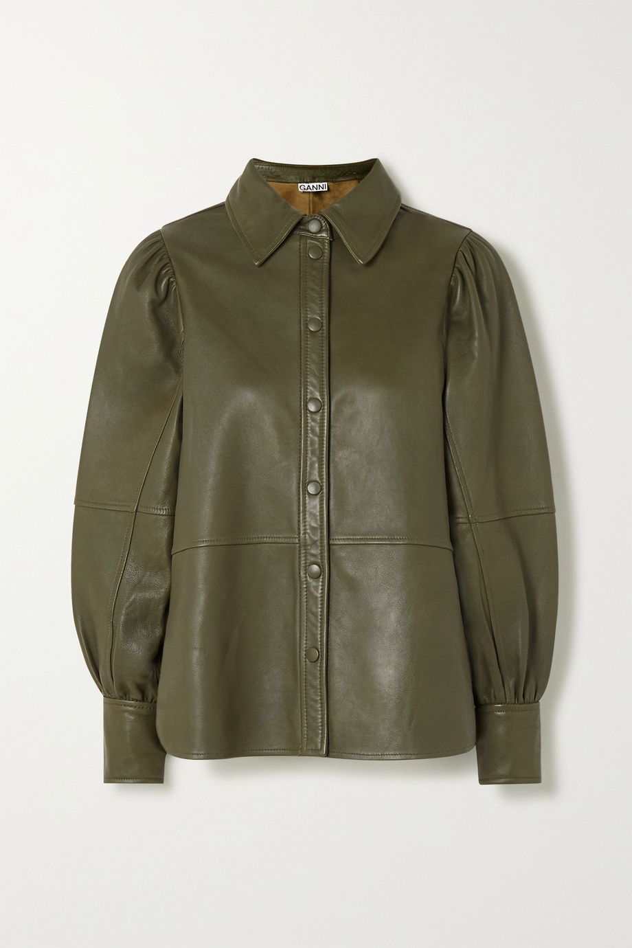GANNI Leather shirt
