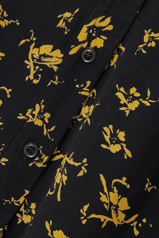 GANNI Floral-print crepe skirt