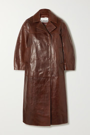 GANNI Oversized leather coat