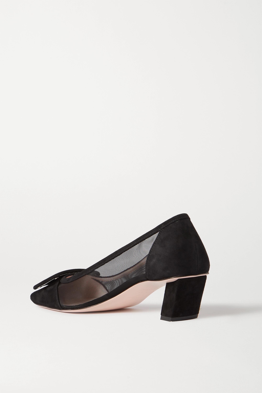 Roger Vivier Belle Vivier Net 绒面革网布高跟鞋