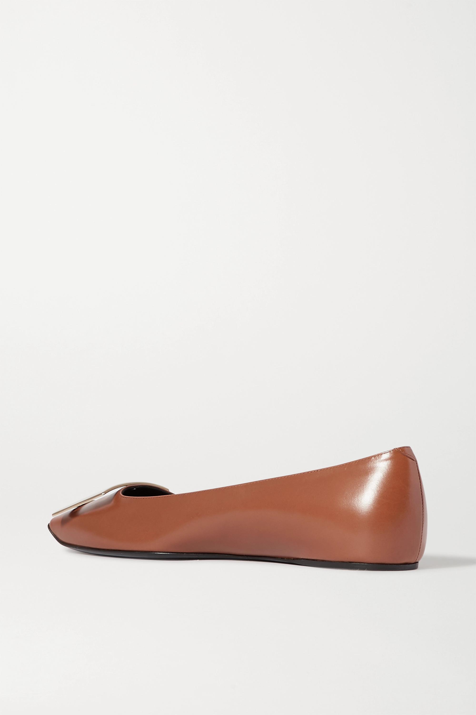 Roger Vivier Trompette Quadrata leather ballet flats