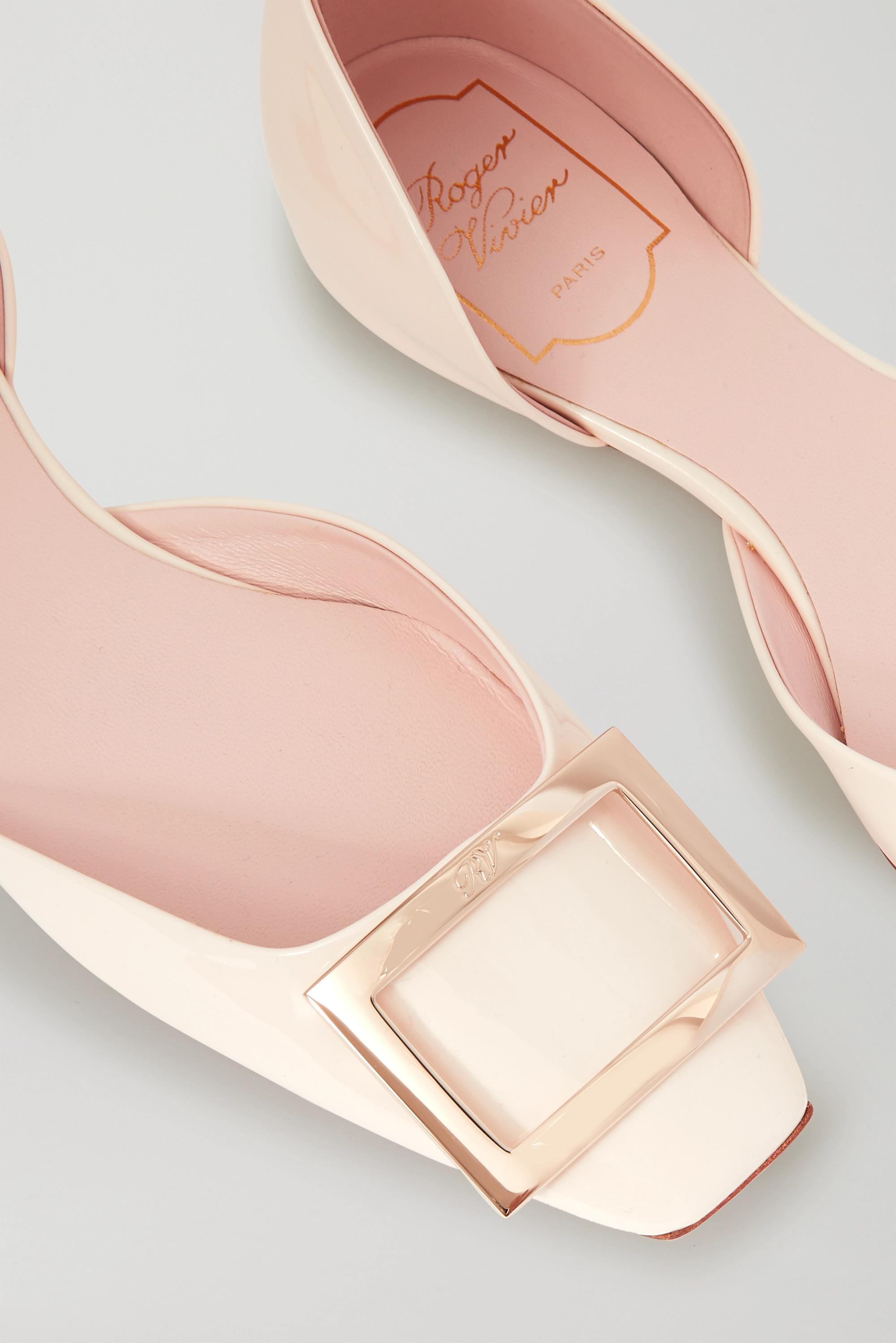 Roger Vivier Trompette D'Orsay leather ballet flats