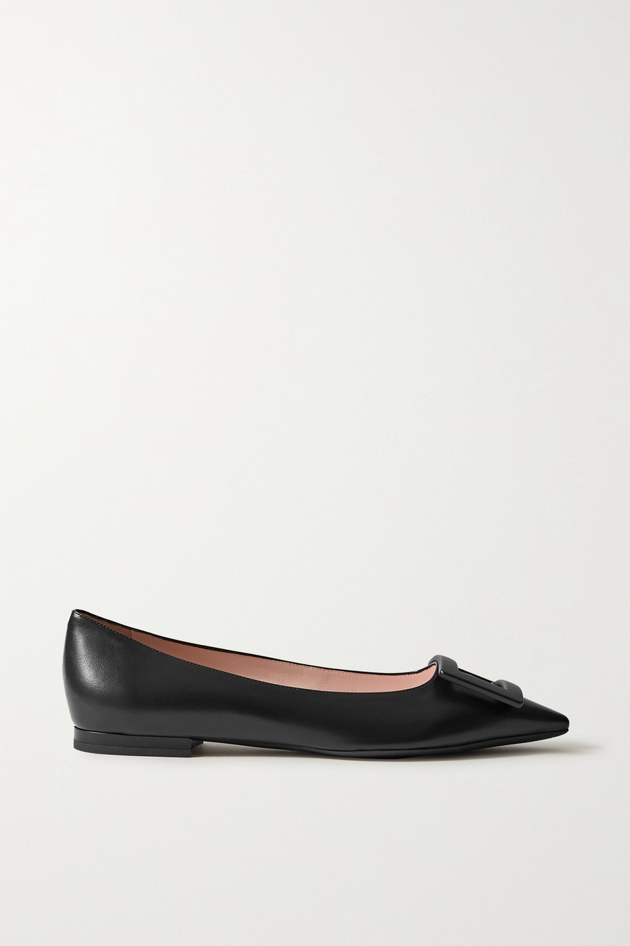 Roger Vivier Gommettine buckled leather ballet flats