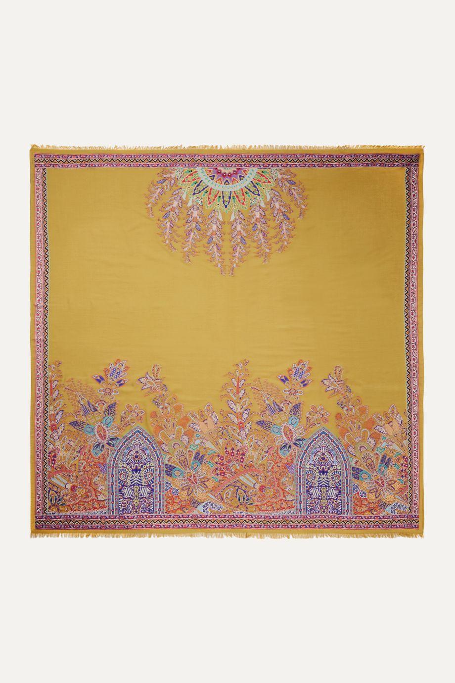 Etro Frayed jacquard scarf