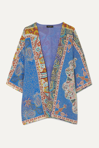 Etro Tops Printed silk robe