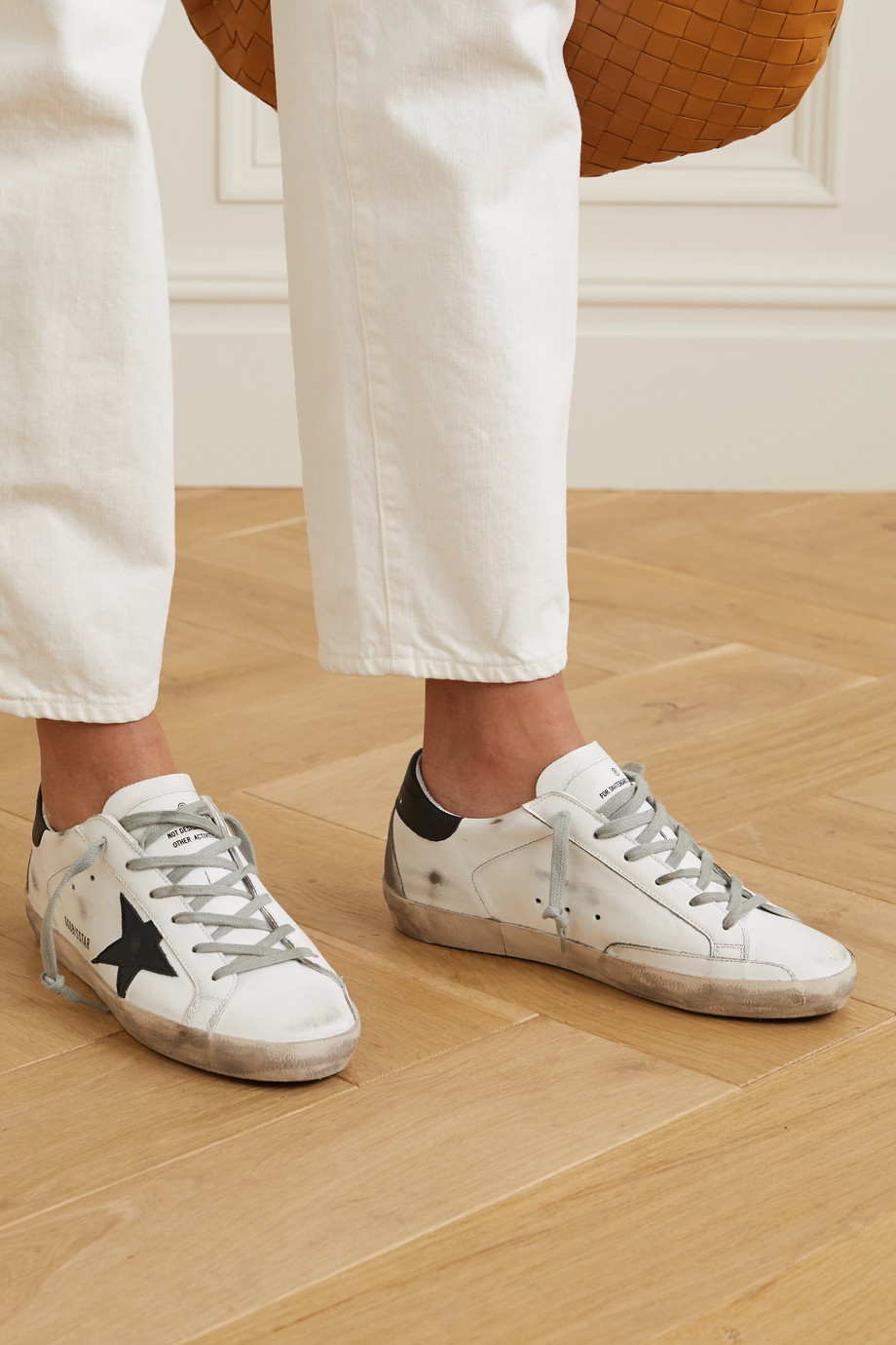 Golden Goose Superstar Sneakers aus Leder in Distressed-Optik