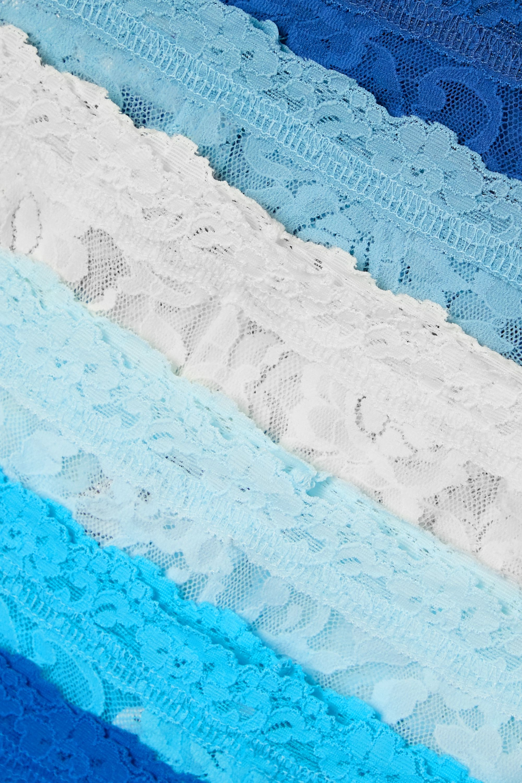 Hanky Panky Signature set of 10 stretch-lace boy shorts