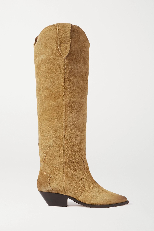 Beige Denvee suede knee boots | Isabel