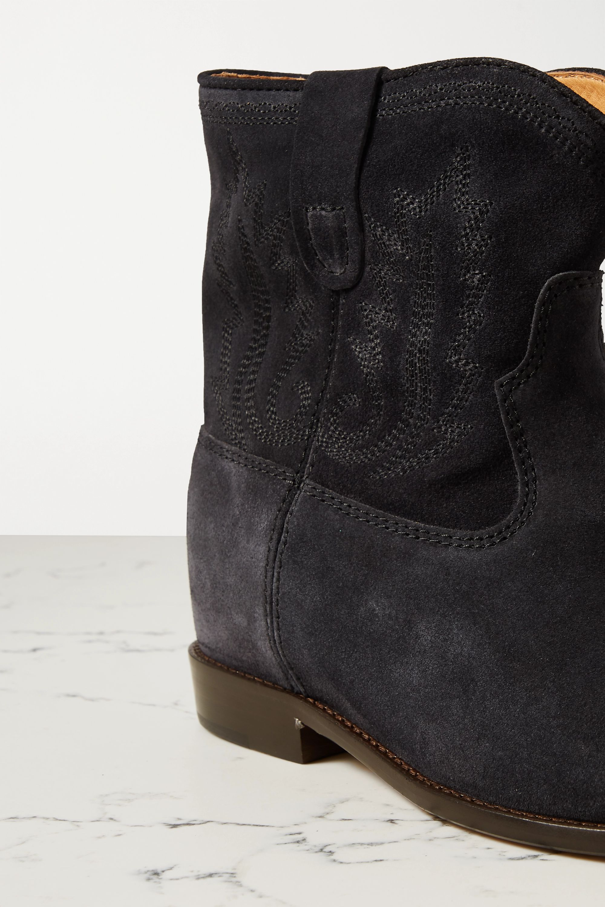 Isabel Marant Crisi embroidered suede ankle boots