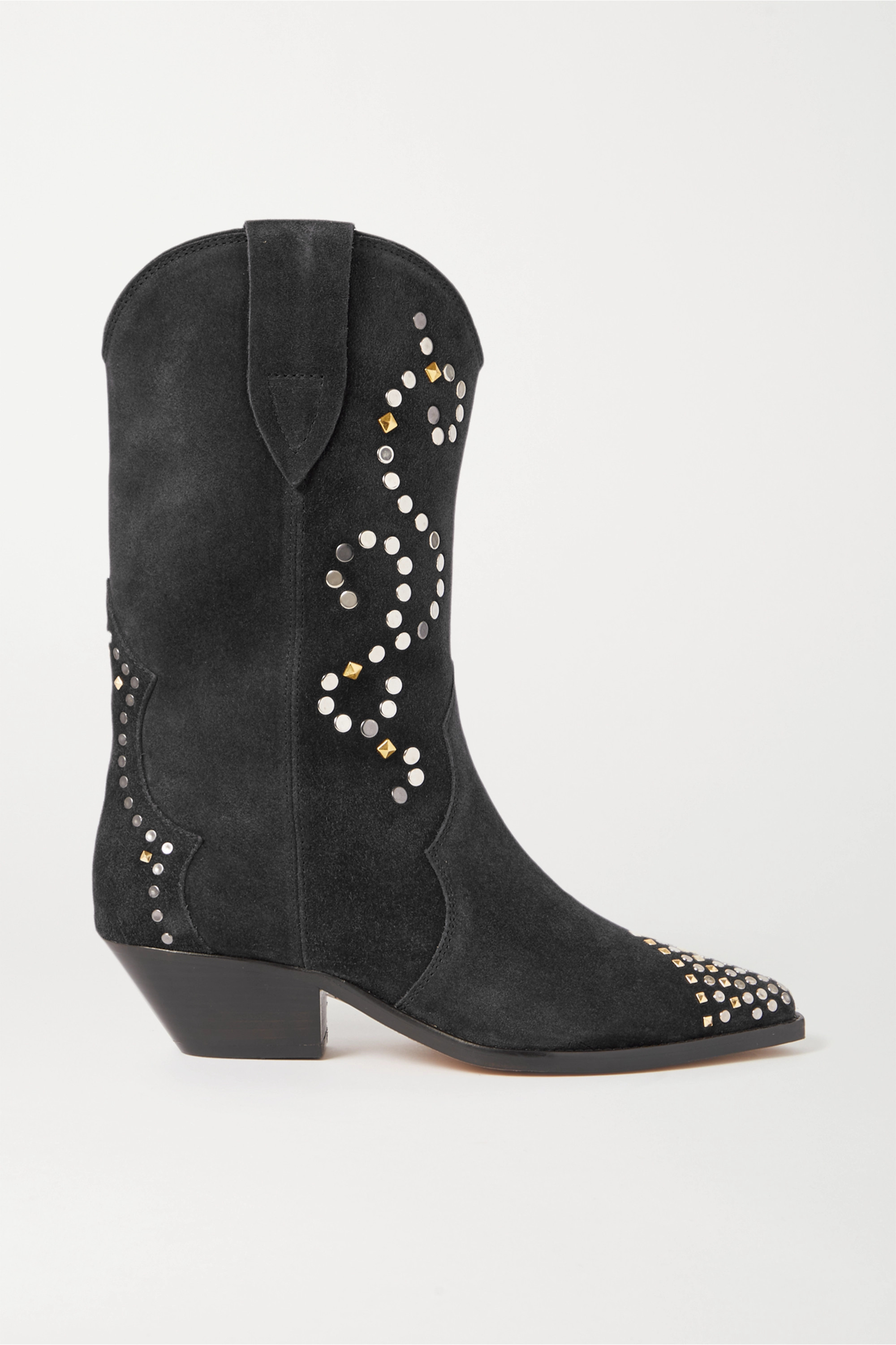 Black Duerto studded suede boots
