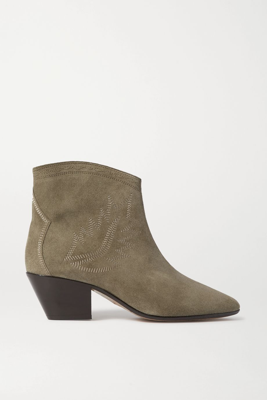 Isabel Marant Dacken embroidered suede ankle boots