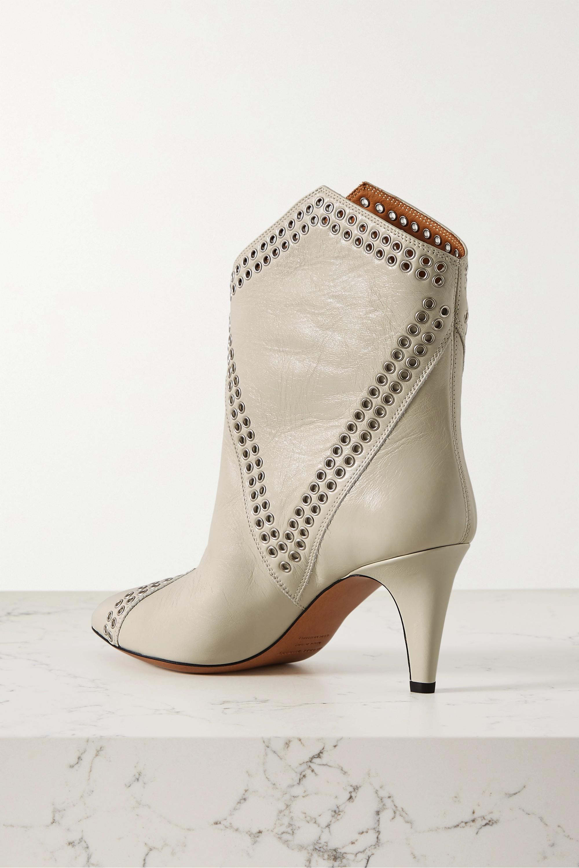 Isabel Marant Demka eyelet-embellished textured-leather ankle boots
