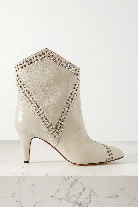 Isabel Marant Demka Stiefel aus strukturiertem Leder mit Ösen